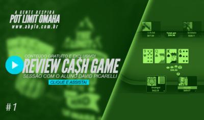 Review de cash game 🤑 – Sessão com o aluno David Picarelli – Parte 01 – 02/18