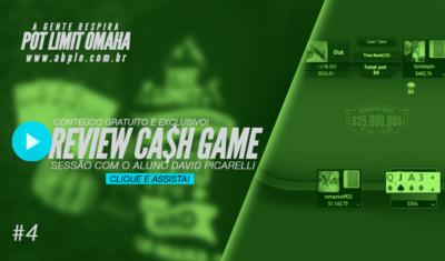 Review de cash game 🤑 – Sessão com o aluno David Picarelli – Parte 04 – 02/18